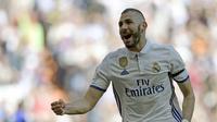 Striker Real Madrid asal Prancis, Karim Benzema. (AFP/Javier Soriano)