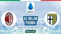 Serie A: AC Milan vs Parma. (Bola.com/Dody Iryawan)