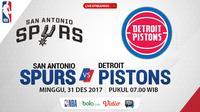 Jadwal NBA, San Antonio Spurs Vs Detroit Pistons. (Bola.com/Dody Iryawan)