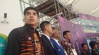 Menpora Malaysia Syed Saddiq Abdul Rahman (kiri) puas dengan penyelenggaraan Asian Games 2018. (Liputan6.com/Cakrayuri Nuralam)