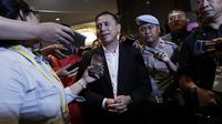 Ketua Umum PSSI, Mochamad Iriawan, memberikan keterangan kepada wartawan saat KLB PSSI di Hotel Shangri-La, Jakarta, Minggu (2/11/2019). Iwan akan memimpin PSSI selama empat tahun, dari 2019 hingga 2023. (Bola.com/M Iqbal Ichsan)