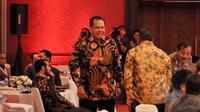 Mantan Menteri Perekonomian, Chairul Tanjung saat menghadiri acara International Conferencen Terrorisn & ISIS di Jiexpo Jakarta, Senin (23/3/2015). (Liputan6.com/Faizal Fanani)