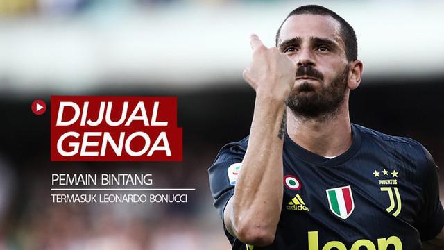 Berita video starting XI pemain bintang yang pernah dijual Genoa, di mana salah satunya adalah bek Juventus, Leonardo Bonucci. Lalu, siapa lagi yang lainnya?