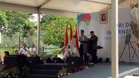 Wakil Presiden Ma'ruf Amin menghadiri acara Hari Disabilitas Internasional di Plaza Barat GBK, Senayan. (Foto: Merdeka.com)