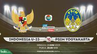 Indonesia U-23 Vs PSIM Yogyakarta. (Bola.com/Dody Iryawan)