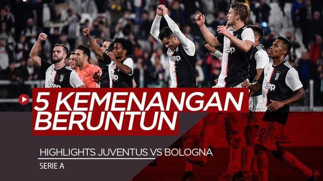 Berita Video Highlights Serie A, Cristiano Ronaldo Bawa Juventus Menang 2-1 atas Bologna