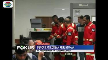 Tim yang berjumlah delapan personil diberangkatkan dari Bandara Moses Kilangin, Timika, Papua, dengan menggunakan pesawat Air Fast.