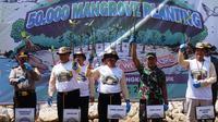 PGN Saka kembali melakukan penanaman kembali 50 ribu bibit mangrove dalam rangka mendukung capaian terkait adendum Amdal.