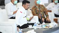 Mentan Syahrul Yasin Limpo mendukung  upaya penguatan kerjasama negara Indonesia dengan International Rice Research Institute (IRRI).