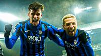 Kegembiraan pemain Atalanta usai memastikan diri lolos ke fase gugur Liga Champions. (Foto: Twitter/Roger Ibañez)