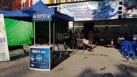 BPJS Kesehatan Cabang Palu buka pelayanan di depan kantor untuk antisipasi gempa susulan (Foto: BPJS Kesehatan)