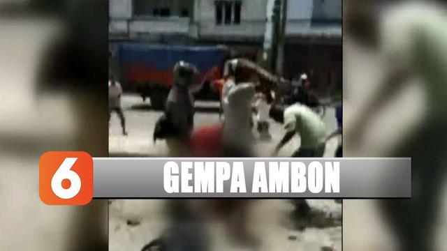 Kota Ambon kembali diguncang gempa dengan 5,2 SR tetapi tidak berpotensi tsunami.