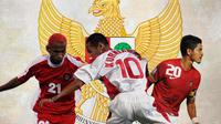 Timnas Indonesia - Rochy Putiray, Kurniawan Dwi Yulianto, Bambang Pamungkas (Bola.com/Adreanus Titus)