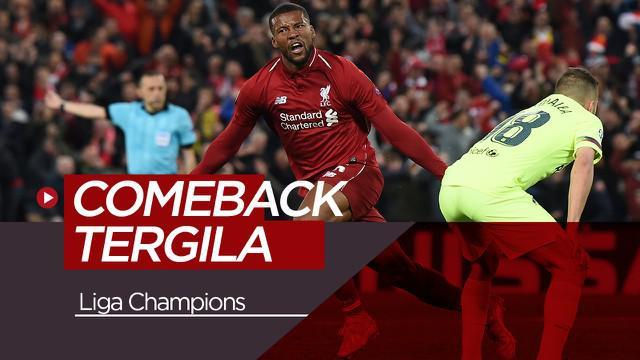 Berita Video Selain Liverpool Vs Barcelona, Inilah 5 Comeback Terbaik di Liga Champions