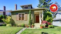 Salah satu keunggulan rumah minimalis berukuran kecil adalah toleransi terhadap ekseperimen warna.