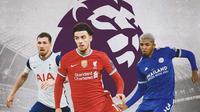 Premier League - Pierre-Emile Hojbjerg, Curtis Jones, Wesley Fofana (Bola.com/Adreanus Titus)