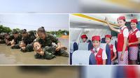 Pramugari-pramugari Cantik Dilatih ala Militer Sebelum Bertugas | Foto DailyMail