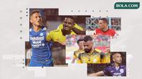 Wander Luiz, Renan Silva, Bruno Silva, Jaimerson Xavier, Fransisco Torres. (Bola.com/Dody Iryawan)