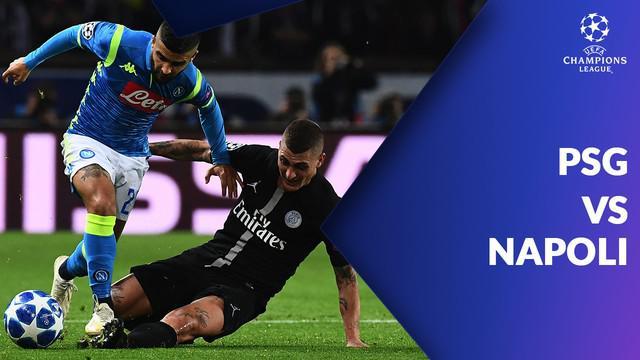 Paris Saint-Germain sempat tertinggal dua kali dari Napoli, namun, Angel Di Maria menyelamatkan PSG dengan gol menit akhirnya.