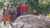 Ukiran Kuno di Batu (Liputan6.com/Ola Keda)