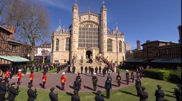 Pemakaman Pangeran Philip di St. George's Chapel.