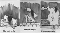 Ilustrasi Style Kuntilanak Saat Keluar Dari Sumur, Bukan Takut Malah Bikin Ketawa (sumber:instagram/@ghosthunter_story)