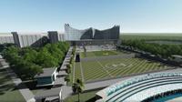 Pradesain istana negara di Ibu Kota Negara (IKN) baru. Instagram@jokowi