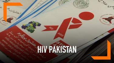 Ratusan orang di Pakistan teridentifikasi terkena HIV positif setelah menjalani tes. Diduga penggunaan jarum tidak streil menjadi penyebab cepatnya penyebaran.