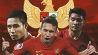 Timnas Indonesia - Evan Dimas, Egy Maulana Vikri, Asnawi Mangkualam (Bola.com/Adreanus Titus)
