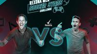 Duel bigmatch antara Irfan Bachdim versus Egy Maulana Vikri di Rexona Men Soccer Stars Challenge.