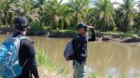 Tim BKSDA Sumbar melakukan identifikasi lapangan terkait konflik buaya dan manusia di Kabupaten Agam. (Liputan6.com/ Dok BKSDA Sumbar)