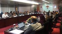 Pertemuan pimpinan KPK dengan jajaran Kemensos di gedung KPK, Senin (4/11/2019) pagi. (Liputan6.com/Fachrur Rozie)
