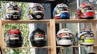 Ragam helm Arai untuk motor dan mobil. (Septian/Liputan6.com)