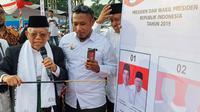 Cawapres KH Ma'ruf Amin berkampanye di Madura. (Liputan6.com/Putu Merta Surya Putra)