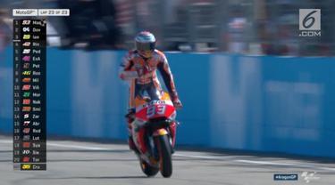 Pebalap Ducati Jorge Lorenzo  mengalami kecelakaan di tikungan pertama MotoGP Aragon. Lorenzo menuduh Marquez menjadi dalang insiden kecelakaan dirinya.