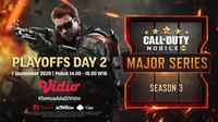 Playoff Garena Call of Duty Mobile Season 3 di Vidio. (Foto: Vidio)