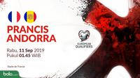 Kualifikasi Piala Eropa 2020 - Prancis Vs Andorra (Bola.com/Adreanus Titus)