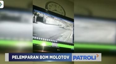 Peristiwa pelemparan bom molotov di rumah bakal caleg Kapitra Ampera sempat terekam CCTV yang berada di sekitar rumahnya.