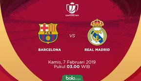Semifinal Copa del Rey 2018-2019 Barcelona vs Real Madrid. (Bola.com/Dody Iryawan)