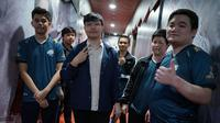 Tim EVOS Esports, yang menjadi juara Mobile Legends Bang Bang Professional League (MPL) Indonesia Season 4.  (FOTO / Montoon)