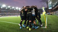 Para pemain Inter Milan merayakan gol ke gawang Sampdoria pada laga pekan keenam Serie A. (dok. Inter Milan)
