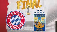 Final Piala Dunia Antar Klub: Bayern Munchen vs Tigres. (Bola.com/Dody Iryawan)