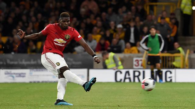 FOTO: Paul Pogba Gagal Penalti, MU Ditahan Imbang Wolves