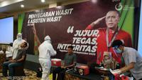 PSSI menggelar swab test untuk perangkat pertandingan di sela-sela penyegaran wasit dan asisten wasit untuk Shopee Liga 1 2020. (Dok. Liga Indonesia Baru)