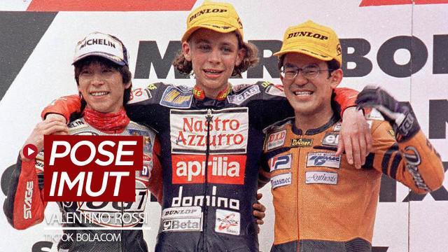 Berita video TikTok Bola.com kali menampilkan beberapa pose imut dari bintang MotoGP, Valentino Rossi, saat muda. Seperti apa?