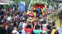 Bupati Anas hadir di acara warga Using di Desa Desa Kemiren, Kecamatan Glagah, Banyuwangi.