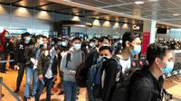 WNI ABK terdampak pandemi Virus Corona COVID-19 di luar negeri kembali ke Indonesia. (Dok KBRI Berlin)