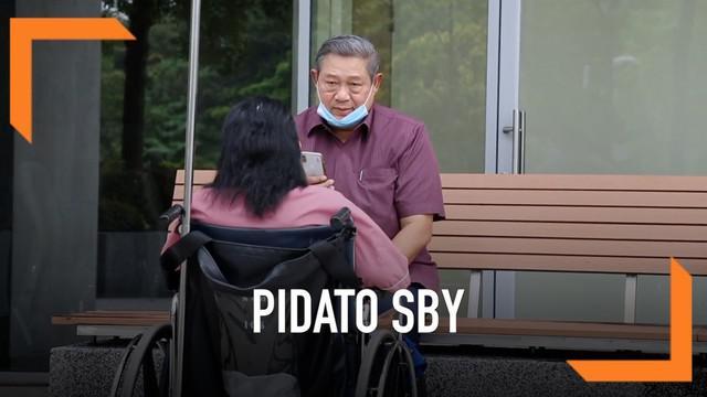 Ketum Partai Demokrat, Susilo Bambang Yudhoyono mengungkapkan isi pertemuan antara Presiden Jokowi dengan AHY.