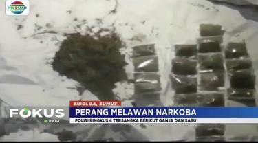 Polresta Sibolga gerebek rumah yang dijadikan sarang narkoba di Jalan D.I. Panjaitan, Sibolga Julu, Sumatera Utara.
