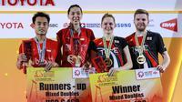 Hafiz Faizal/Gloria Emanuelle Widjaja menjadi runner-up Thailand Masters 2020 setelah kalah dari pasangan Inggris, Marcus Ellis/Lauren Smith, Minggu (26/1/2020). (Dok PBSI)